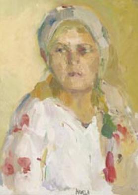 Evgeny Naidyonov. Portrait of a farmer. 1980s