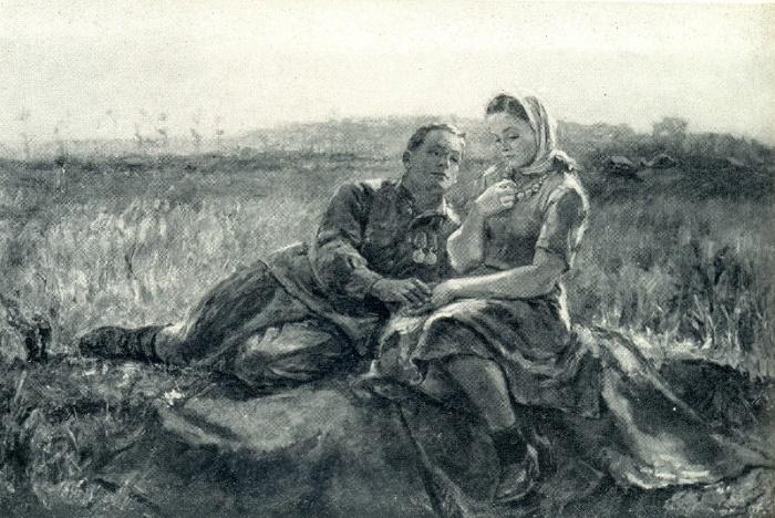 F.V. Vasilyev (1904-1994). Confession. 1945