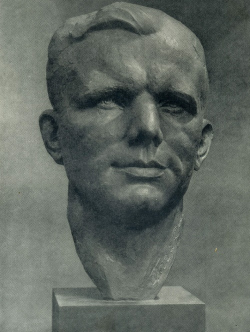 G.N. Postnikov. Hero of the Soviet Union Yu.A. Gagarin. Tinted gypsum