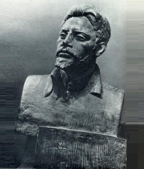 G.V. Neroda. Portrait of Ya.M. Sverdlov. Gypsum. 1932