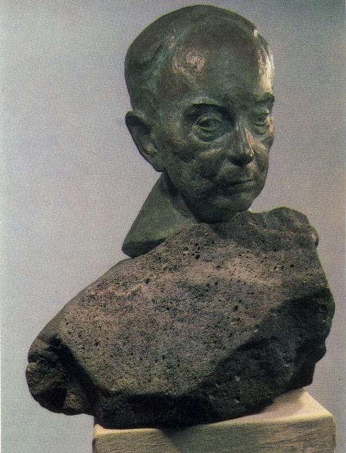 GG Chubaryan. Portrait of Academician IM Frank. 1982. Bronze. State Tretyakov Gallery