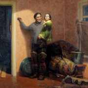 Gennady Semakov (1926-2015). In a new apartment. 1957