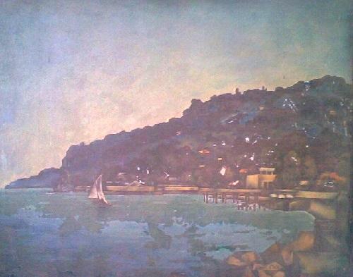 Hassan Inaishvili (b. 22.09.1942) Tsikhisdziri. 1980. Oil on canvas