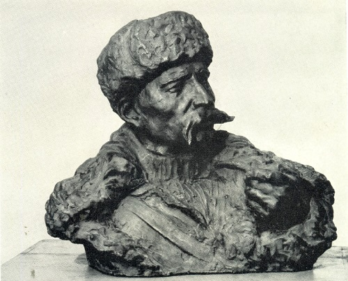 Hero of the Soviet Union A. Danukalov. Sculptor SI Selikhanov