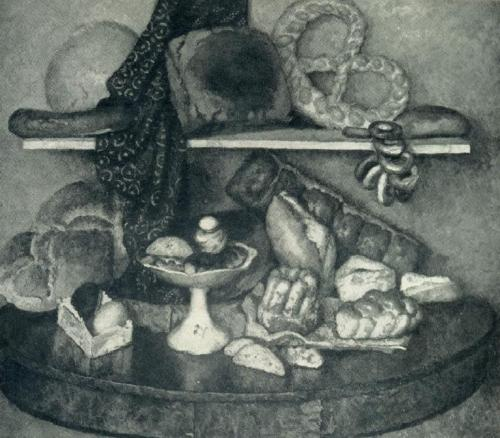 I.N. Mashkov. Moscow food - bread. 1924. Oil