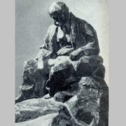 I.P. Kavaleridze. Model of the monument to T. Shevchenko for the city of Romna. Gypsum. 1918. Fragment
