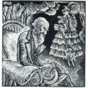Illustration for the story of K.A. Fedin 'The Old Man'. Engraving on the wood. 1930