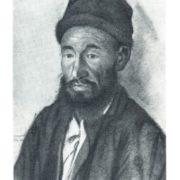K.A. Davletkildyev. Old Bashkir. Coal, white. 1928
