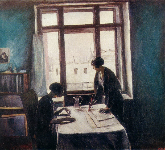 K.N. Istomin. Vuzovki (students of Institute). Oil, canvas. 1933. State Russian museum