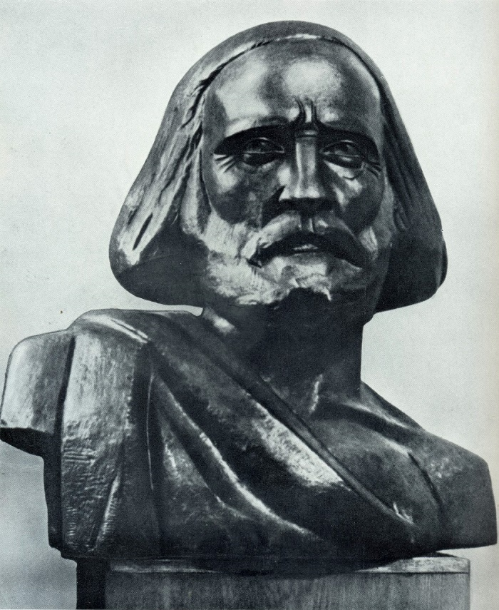 K.T. Zale. Giuseppe Garibaldi. Bronze. 1918