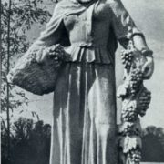 Khaz-Bulat Askar-Sarydzha (1900-1982). Collective farmer. The statue at the pavilion of the Azerbaijan SSR at VDNH in Moscow. Gypsum. 1939