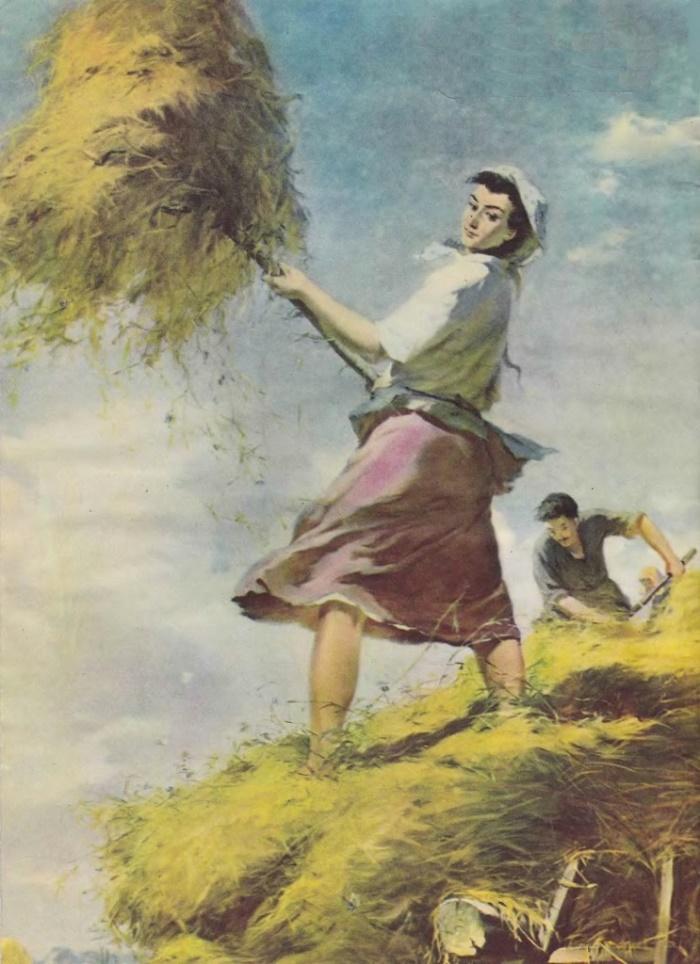 Kolkhoz woman. Artist G. Chirinashvili. 1957