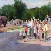 Kuzma Nikolayev. Moscow Zoo. 1950