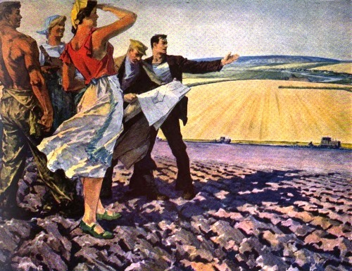 L. Chegarovsky. The Communists in the fields. It is time to sow