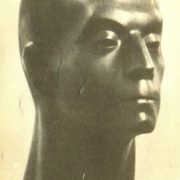 L. Davydova - Medeni. Portrait of Zemdega. 1964 Polished granite