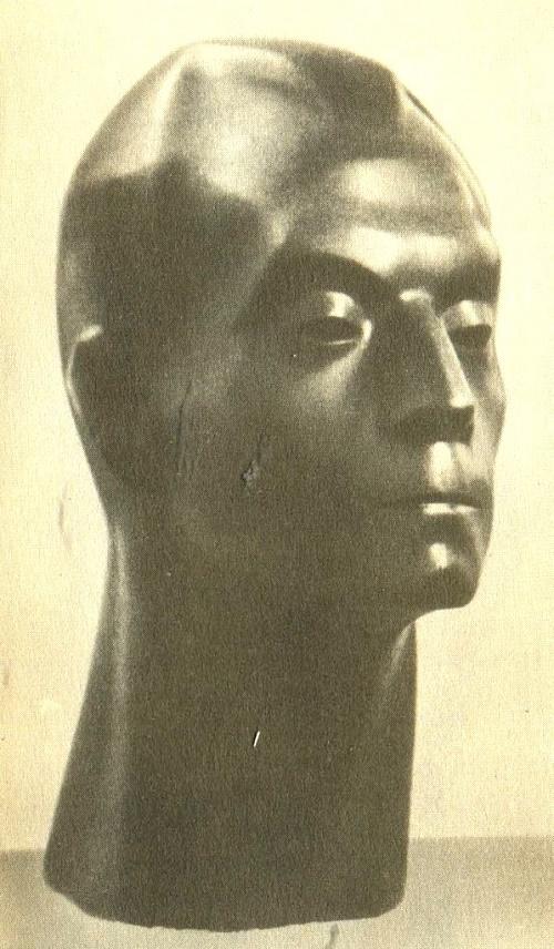 L. Davydova - Medeni. Portrait of Zemdega. 1964 Polished granite