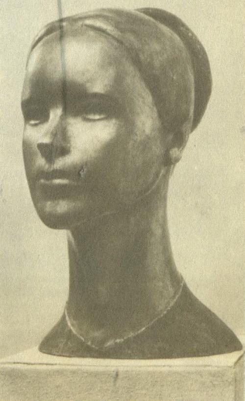 L. Lankinen. Portrait of a Woman (Sirkka). 1965. Bronze