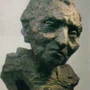 L.M. Davydova-Medene. Mother of artist Leo Kokle. 1980. Bronze