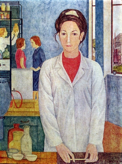 Lab technician. 1974