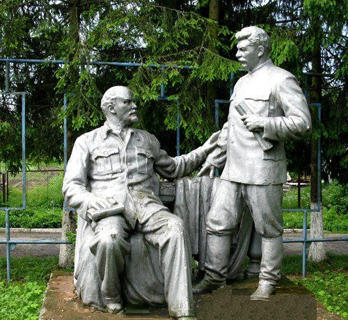 Lenin and Stalin. 1945. Sculptor A. Topchiev