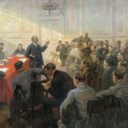 Lenin at the April Conference of the RSDLP (b)