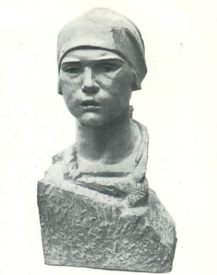 M. Babinsky. Komsomol member. stained plaster. 1929-1931