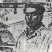 M. Omorkulov. Special hydro-installer. Pencil. 1982