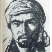 M.I. Kurzin. Collective farm shock worker Ahmad Rajab. Coal, gouache. 1936