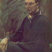 MI Malyutin (Ivanovo). Journalist Dmitry Vasilyev. 1981 Particle board, gesso, pastel