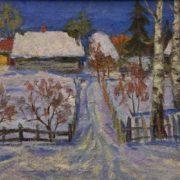 March. Winter evening. 1979. A.P. Matveyev. Tomsk art museum