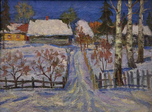 March. Winter evening. 1979. A.P. Matveyev. Tomsk art museum