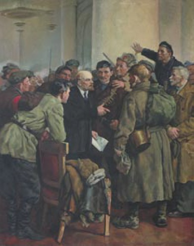 Mikhail Nikolayevich Sokolov (1931). Lenin with revolutionaries. 1968-1970