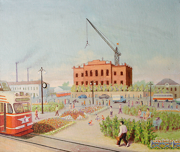 N. Denisov. Batenkov Square. Oil on canvas