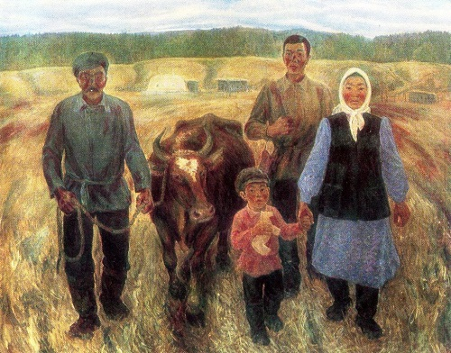 N. Pavlov. To the collective farm. 1977