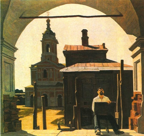N. Zudov. In the old city. Oil. 1983