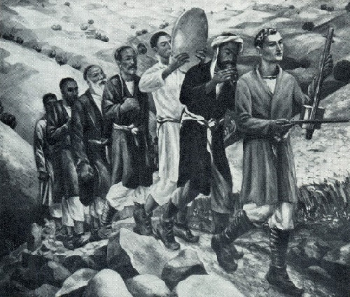 N.G. Karahan. Return of the reapers. 1936