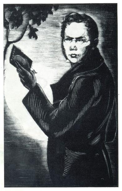 N.P. Dmitrievsky. Portrait of P.A. Vyazemsky. Engraving on the wood. 1932