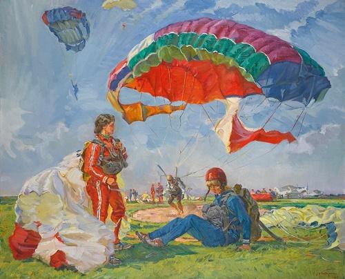 Nikolai Bondarenko (1914-1999). Sport of the brave. 1968