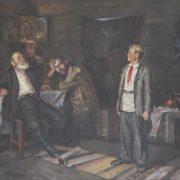 Nikolay Fyodorovich Karnatykh (1908-). Pavlik Morozov. Discussion with father. 1970