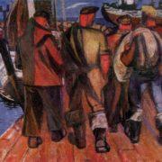 Nikolay Kormashov. Fishermen. 1963. Oil. Tallin art museum