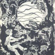 O. Pinaeva. Illustration to the story of Maxim Gorky 'The case with Evseyka'. Etching, aquatint. 1977