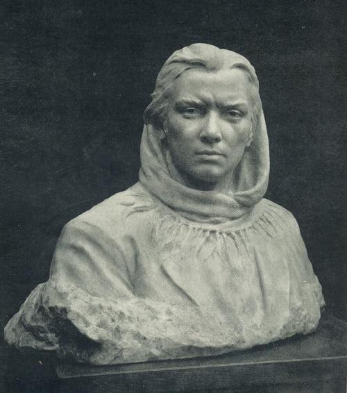 O.A. Suprun. Partisan woman. 1951. Marble