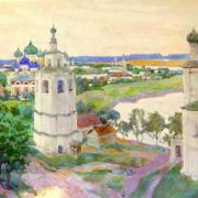 Old Uglich. Paper, watercolor. 1924