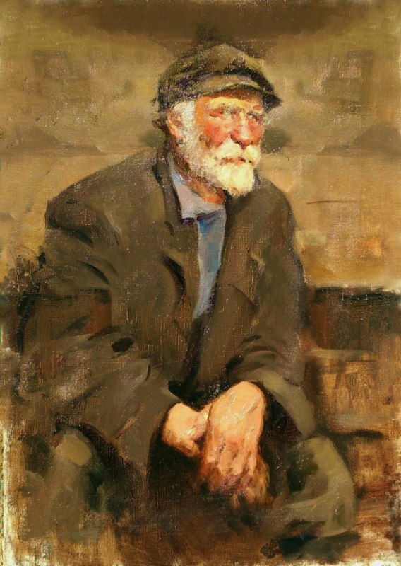 Old man's portrait. 1954