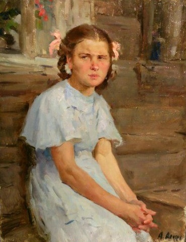 Portrait of a girl. 1955