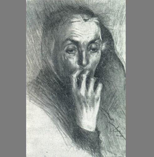 Portrait of a mother. 1942. Ucha Japaridze (1906-1988