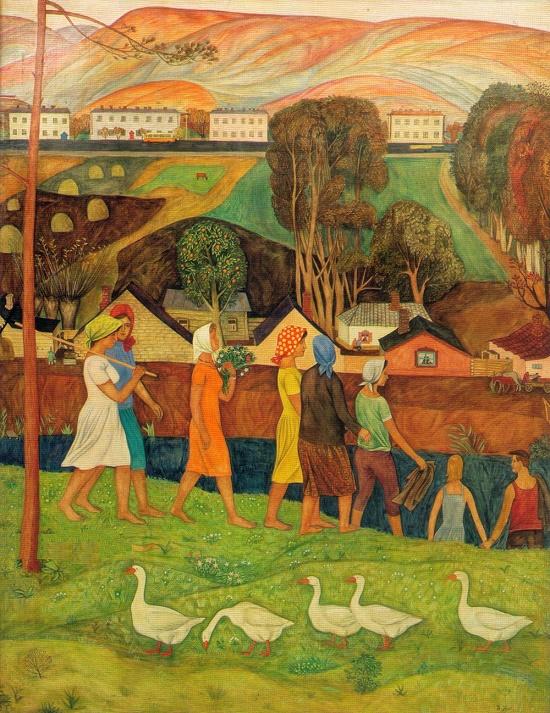 Soviet Russian artist Viktor Trofimovich Ni