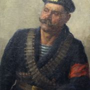 Revolutionary sailor. Portrait. 1917