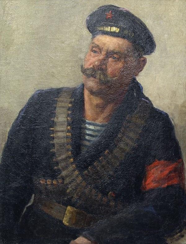 Revolutionary sailor. Portrait. 1917