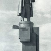 S. Evseyev. Monument to Lenin at Finlyandsky railway station in Leningrad. Bronze, granite. 1926